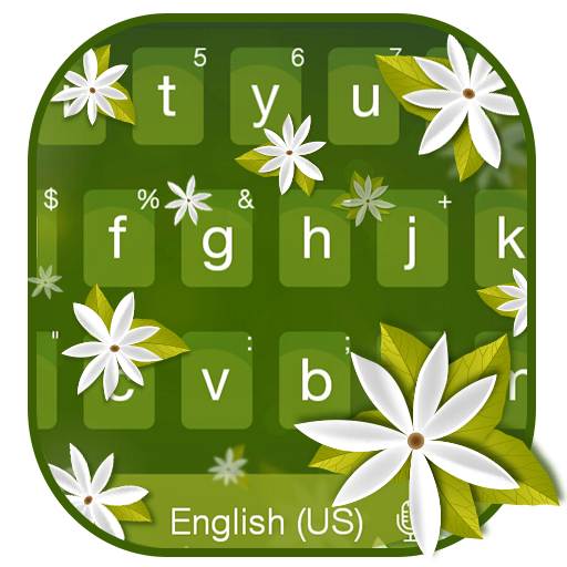 Jasmine Flowers Keyboard Theme file APK Free for PC, smart TV Download