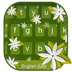 Jasmine Flowers Keyboard Theme