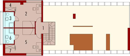 Garden G2 - Rzut piętra