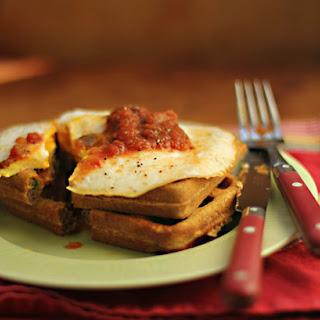 Savory Southwest cornmeal waffles
