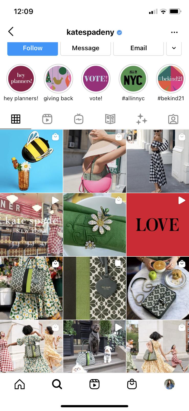 Instagram vibrant brand aesthetic