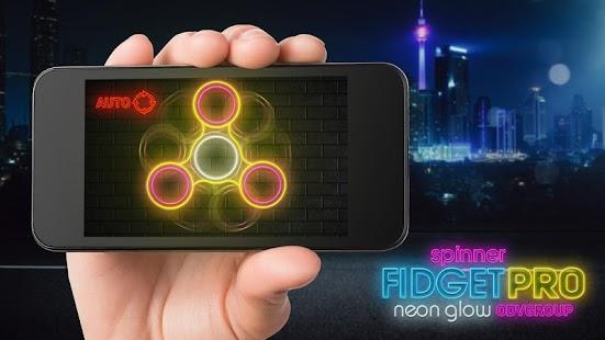Fidget spinner neon záře pro - náhled