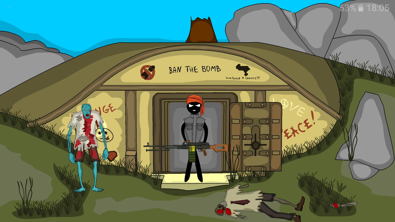 Stickman bunker- screenshot