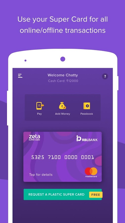 Zeta Wallet, Payment, Save Tax- screenshot
