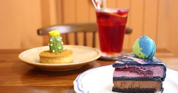 桃園車站美食: 風雨珈琲~吃一口小宇宙蛋糕與抹茶仙人掌派