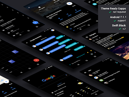 Swift Black Substratum Theme Screenshot