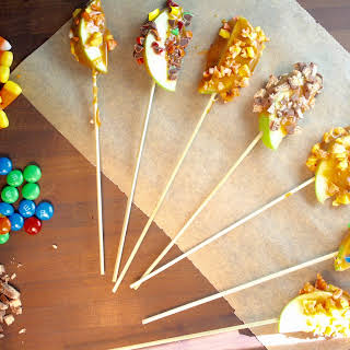 Candy Coated Caramel Apple Slices.