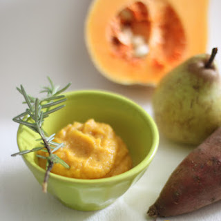 Sweet Potato, Butternut Squash, Pear & Rosemary Purée.