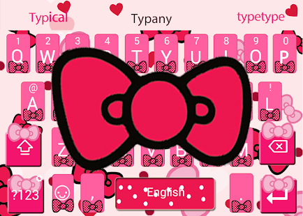 Lovely Pink Bow Keyboard - náhled
