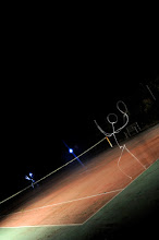 Photo: Match Point - Light painting by Christopher Hibbert, french photographer and light painter. Further information: http://www.christopher-hibbert.com