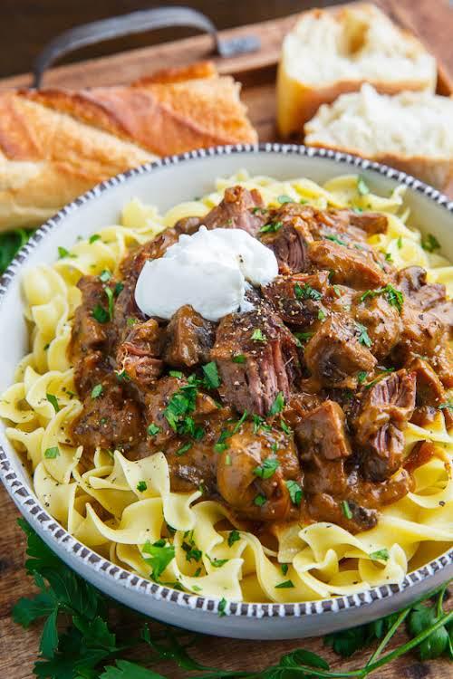 "Pot Roast Beef Stroganoff ""A homestyle comfort food pot roast take on..."