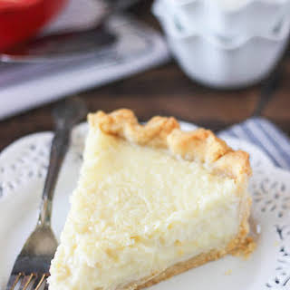 Old Fashioned Coconut Custard Pie.