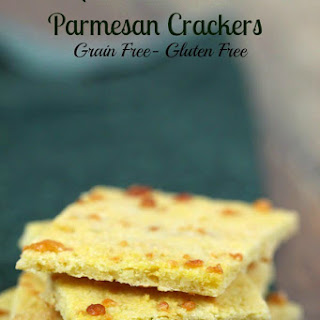 Almond Flour Parmesan Crackers Recipe~ Grain Free Gluten Free.