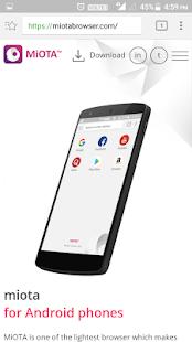 MiOTA Browser - náhled
