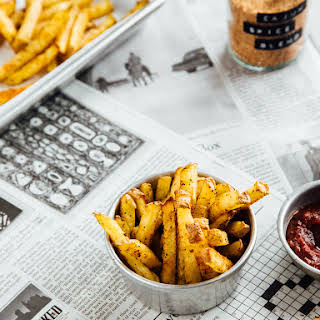 BAKED CANJUN SPICED FRENCH FRIES.