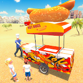 Hot Dog Food Delivery Boy City Life 3D Sim