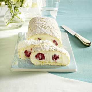 Creamy Raspberry and Apricot Cake