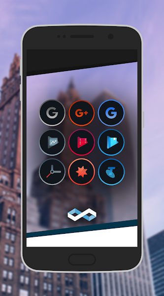 Infinite Dark Icons – Nova/GO v1.2