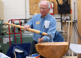Photo: Mark talked about a back saver with Lockhart's firewood gripper that gives you a handle to carry the log.  Phil demos a cant that will easily move a log from one place to another.