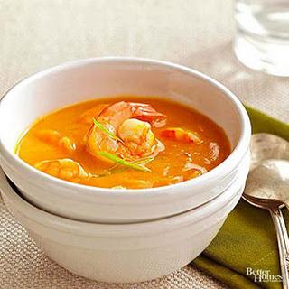 Creamy Butternut Squash Shrimp Curry Soup
