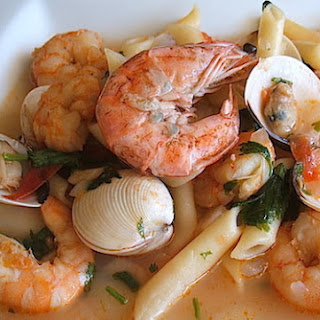 Seafood Pasta (portuguese Style)
