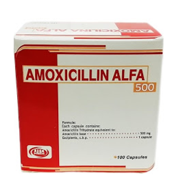 amoxicilina 500mg 10cápsulas blister alfa