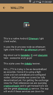 WALLETH Ethereum Wallet alpha - náhled