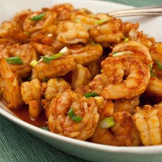 Steamed Cajun Shrimp.