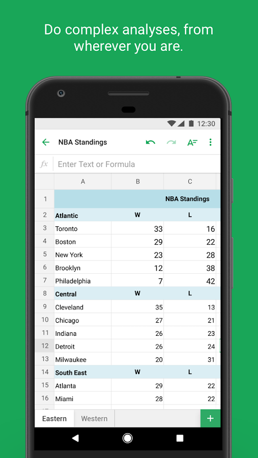 how to open google sheets in mobile