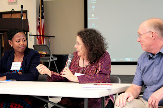 Photo: Maxine Levin discusses stressors and benefits of the environment.