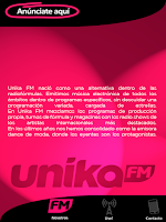 Screenshot of Unika FM Live