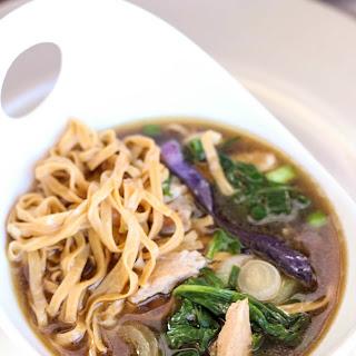 Wonton Noodles, Pork & Spinach Soup