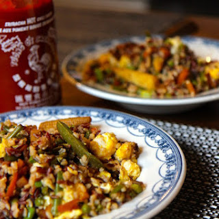 Healthy Egg Fried Rice - Vegetarian and Gluten Free!.