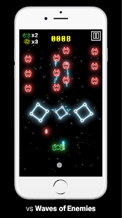 Galactic Shooter - Defend The Neon Invaders Screenshot