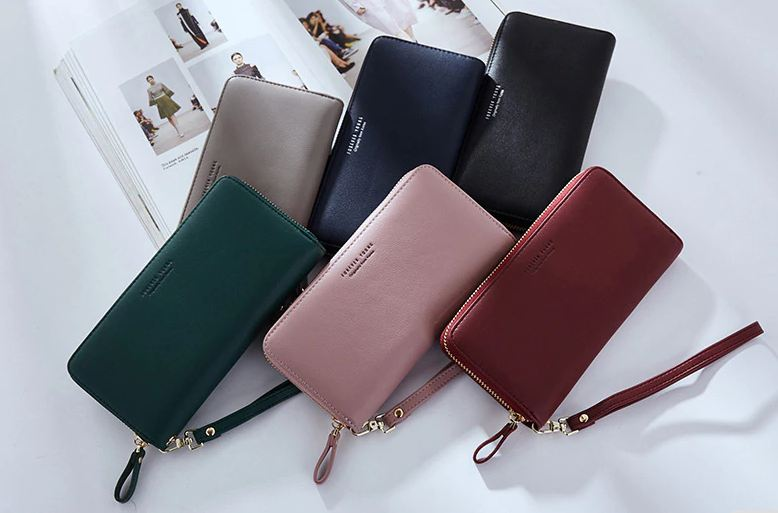 8887451c6c Details about Womens Wallets Leather Long Clutch Card Holder Genuine Lady  Purse Ladies New Bag