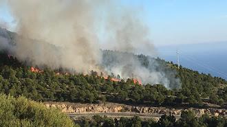 Uno de los incendios que ha habido recientemente en el municipio.