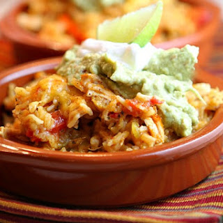Tex Mex Chicken and Rice Casserole.