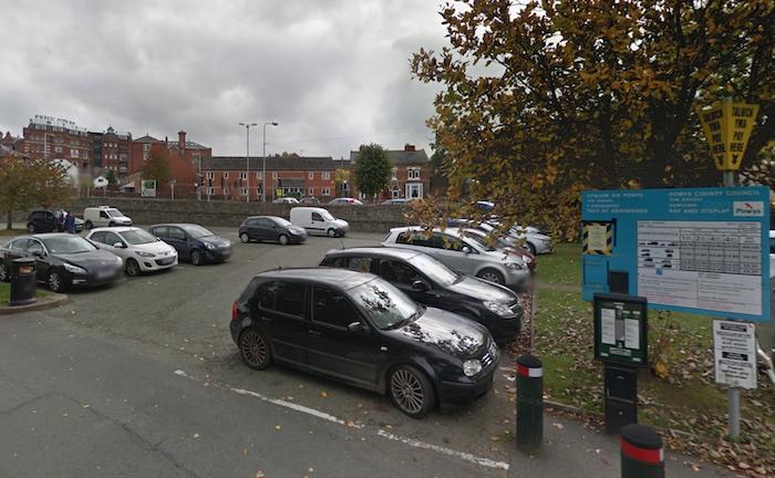 Vehicle criminally damaged in town car park