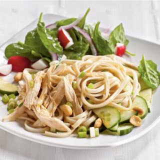 Cold Sesame Noodles with Chicken and Cucumbers