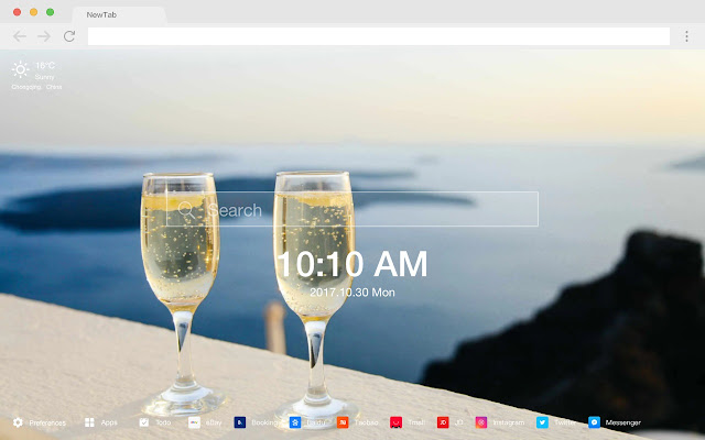 Holidays Popular Scenery HD New Tabs Theme