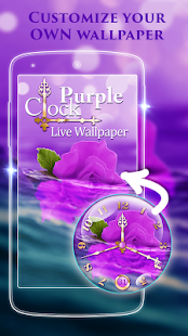 Purple Clock Live Wallpaper - náhled