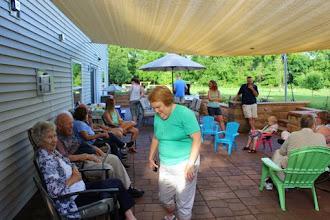 Photo: Margaret, Waleta, Howard at cookout