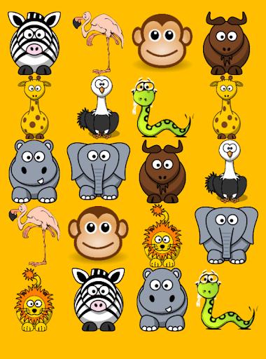 非洲动物游戏的孩子