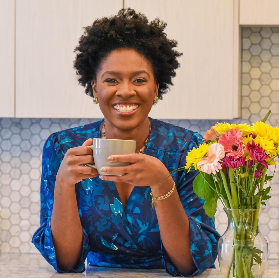Michelle with Tea Mug