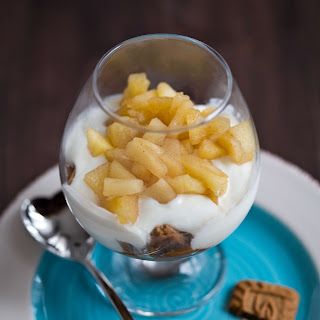 Easy Honey Apple Yogurt Dessert in a Glass.