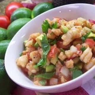 Avocado Shrimp Ceviche-Estillo Sarita.