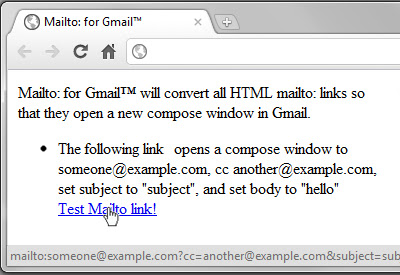Mailto: for Gmail™
