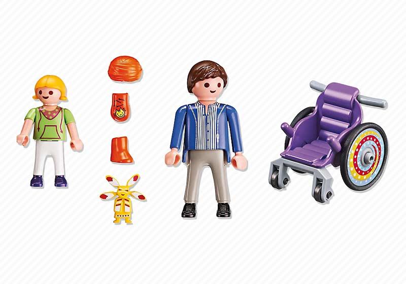 Contenido Real de Playmobil® 6663 Niño en Silla de Ruedas