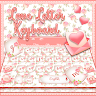 keyboard.theme.floral.love.letter.pink