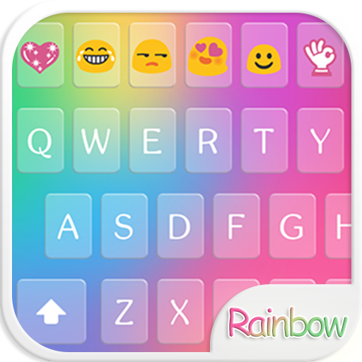 Rainbow Love - Emoji Keyboard with Call Screening